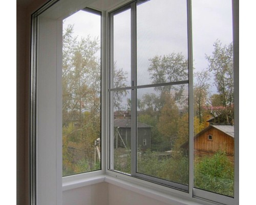 Раздвижные москитные сетки на раздвижные алюминиевые окна Provedal